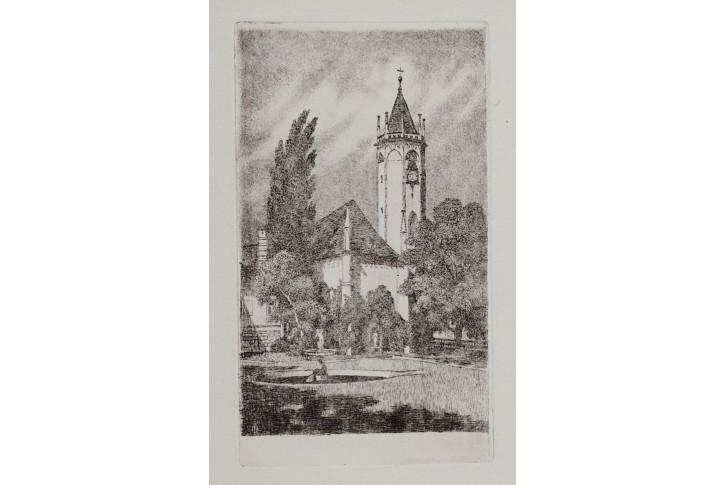 Teplice kostel, Oehn lept, 1930