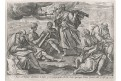 Ezdráš 14 / 37, Voss -  Wierix, mědiryt, 1610