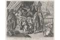 Smrt bpháčova - ďáblové, Galle, mědiryt, (1600)
