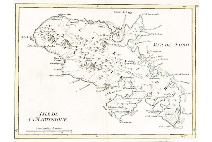 Rouge Le : Martinique, mědiryt 1746