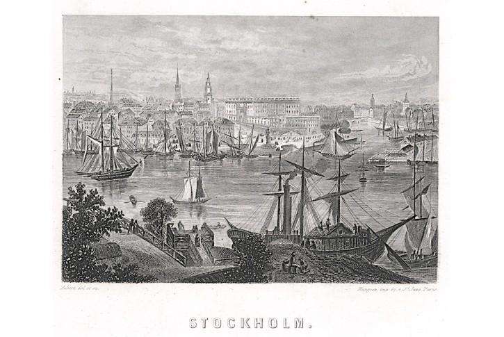 Stockholm, Aubert, oceloryt, (1840)