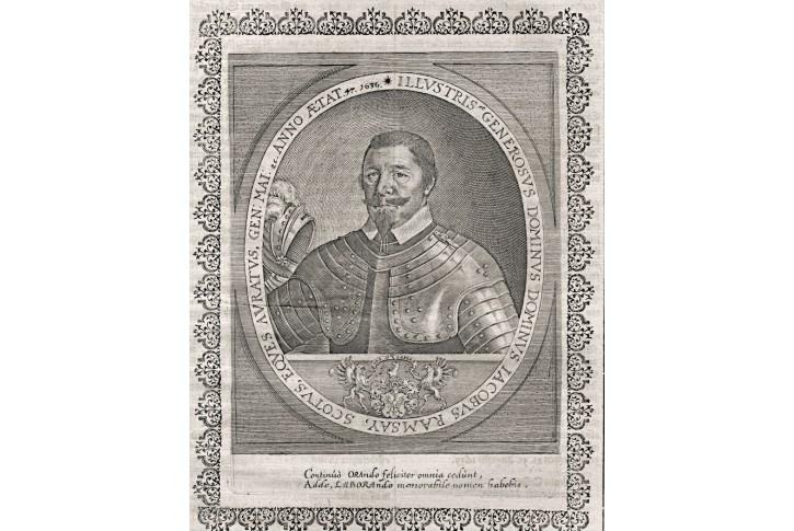 Ramsay Jacob, Merian,  mědiryt 1639