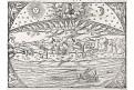 Stvoření světa, S. Münster, dřevořez, (1560)