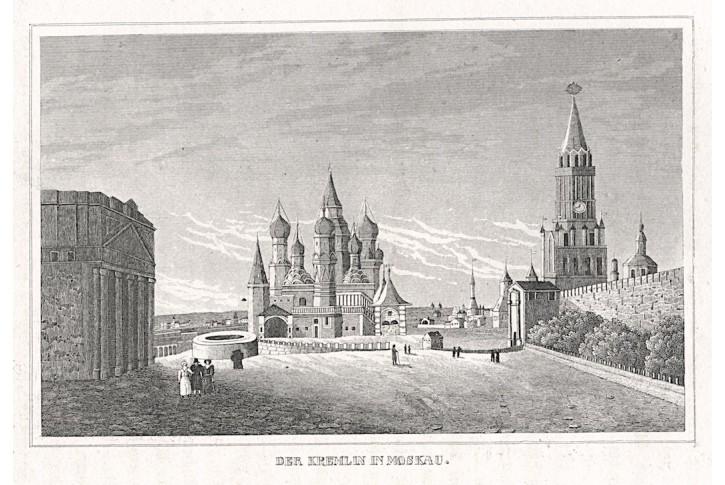 Moskva Kreml, Strahlheim, oceloryt, 1837