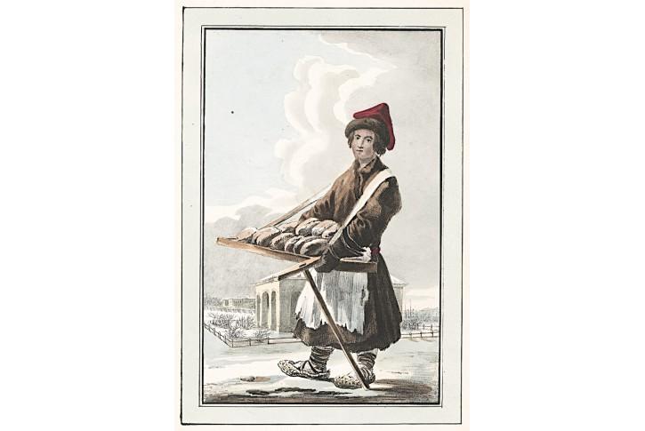 Prtodavač piroh Rusko, kolor. litografie, (1850)