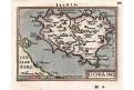 Ischia, Ortelius miniatur, mědiryt, 1602