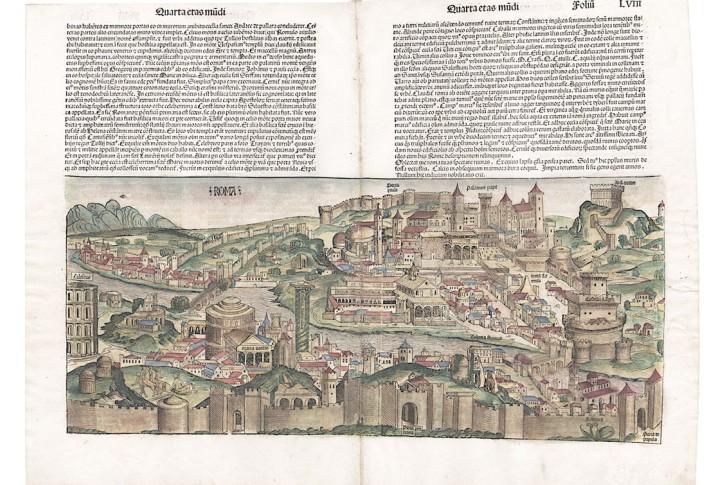 Roma, H. Schedel, dřevořez 1493