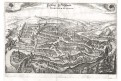 Fribourg - Freyburg, Merian,  mědiryt,  1642