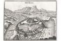 Montmelian - Montmélian, Merian,  mědiryt,  1643