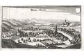 Blindenmarkt bei Ybbs , Merian,  mědiryt,  1649