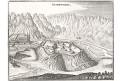 Aiguebelle - Charboniere, Merian,  mědiryt,  1647