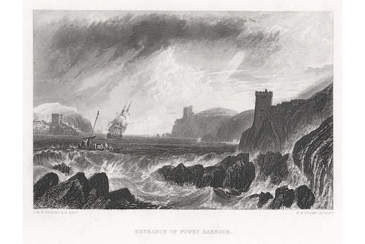 Fowey Harbour, Virtue, lept, (1880)