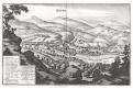 Karlovy Vary , Merian M., mědiryt 1650