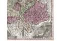 Seutter G.M.: Helvetiae, kolorovaný mědiryt, 1740