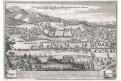 Turene maršál smrt bitva , Merian, mědiryt, (1680)