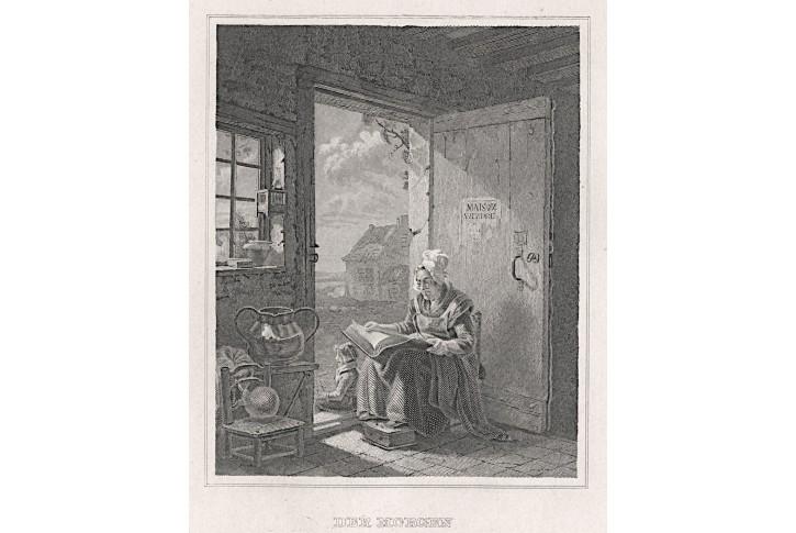Ráno, oceloryt, (1860)