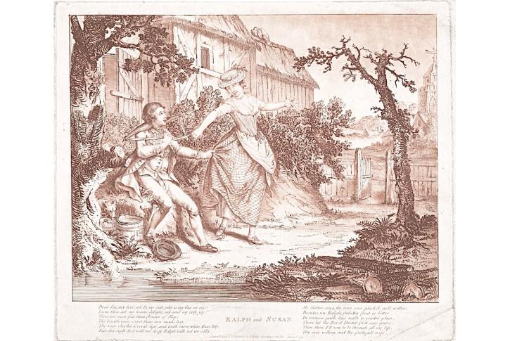 Ralph and Susan, Miller, akvatinta, 1781
