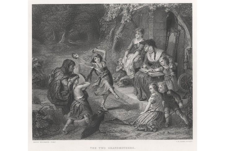 Romové - Cikáni, Jeens, oceloryt, (1860)