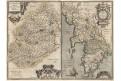 Ortelius A. : Britanniae,  mědiryt, 1597
