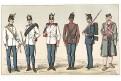 Rakousko vojáci 30.,Chromolitografie (1900)