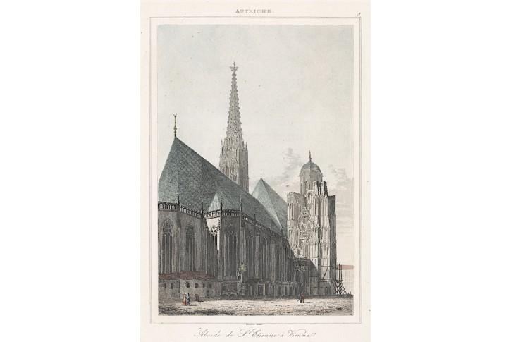 Wien, Stephans II., Le Bas,kolor.  oceloryt 1842