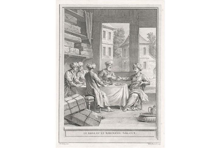 Paša a obchodník, Prevost, mědiryt, 1759