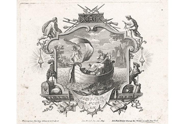 Mnoho peněz mnoho starostí, mědiryt, (1760)
