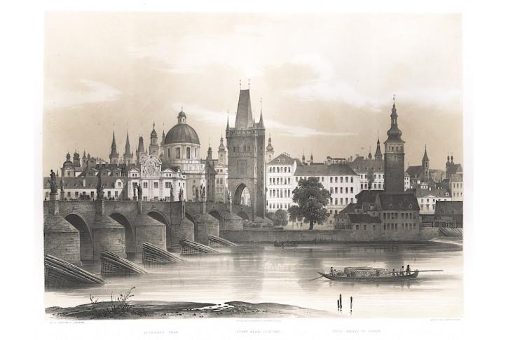 Praha St. město Sandmann,  litografie, 1850