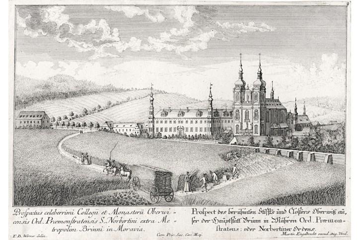Brno - Zábrdovice, Werner, Mědiryt, 1740