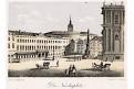 Praha Malostranské malé,Täubert, litografie, 1850