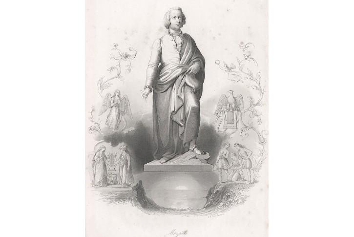 Mozart, Payne,  oceloryt , 1850