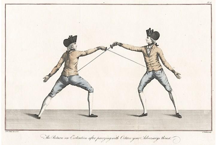šerm,  Girard, kolor. mědiryt, (1760)