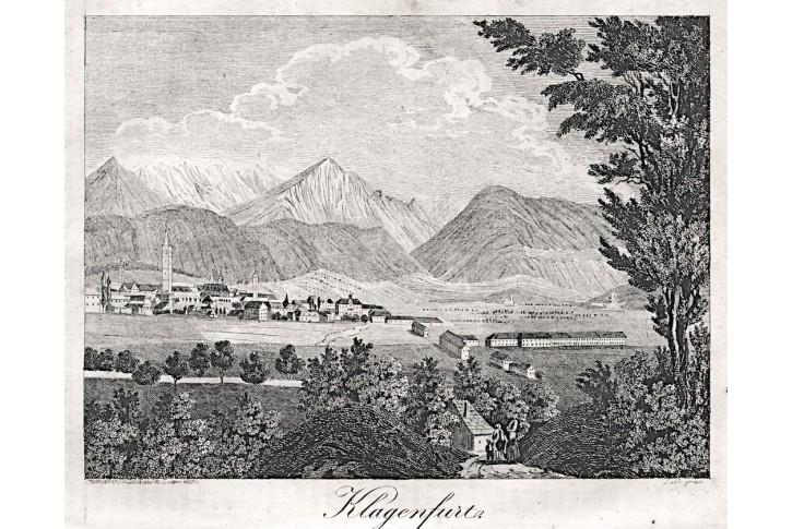 Klagenfurt , Medau, litografie, 1841