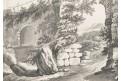 Krajina s lávkou, kresba, (1800)