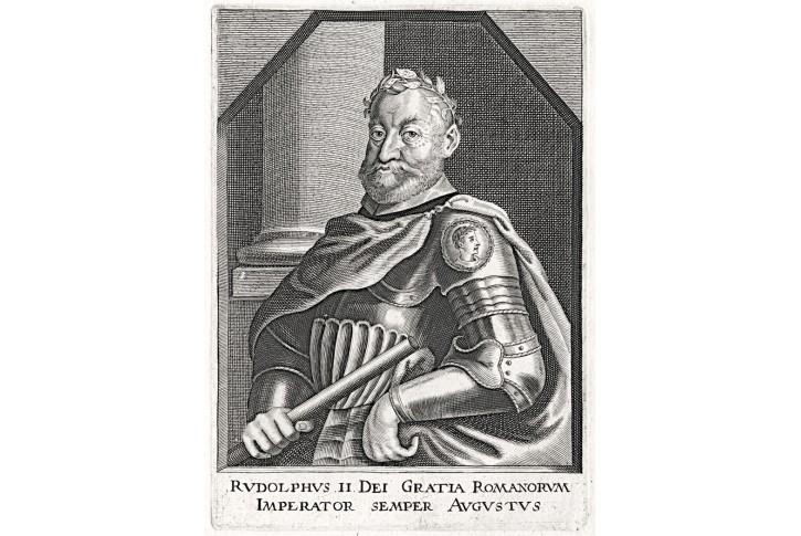 Rudolf II., mědiryt , 17. stol.