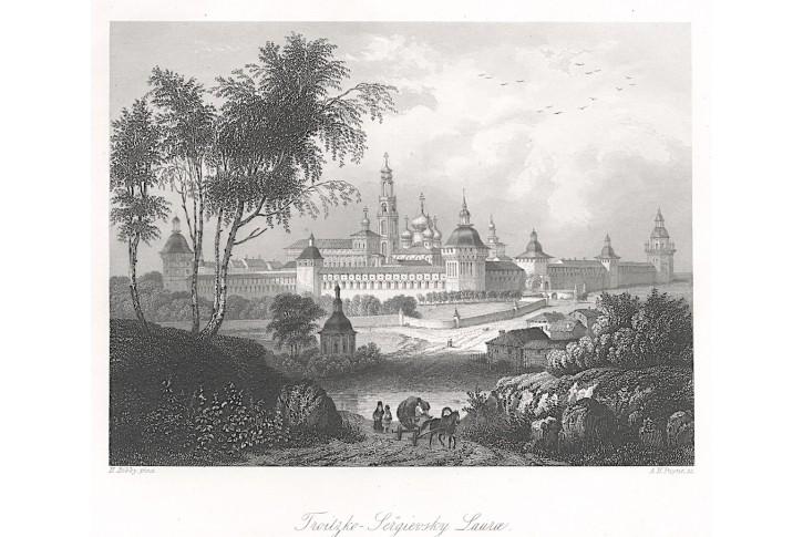 Trojicko-sergijevská lávra, Payne, oceloryt, 1850