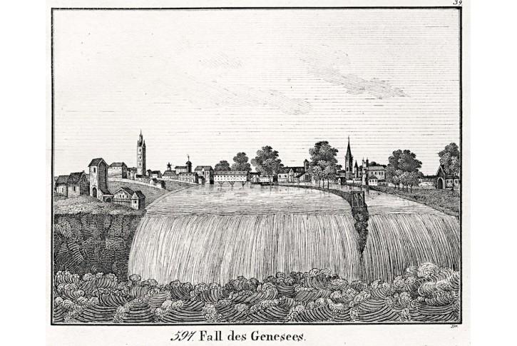 Genesse Falls , Neue Bilder.., litografie , 1837