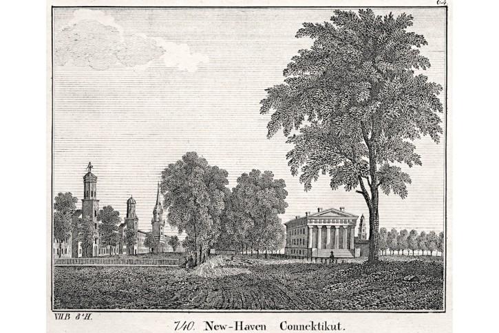 New Haven, Neue Bilder.., litografie , 1837