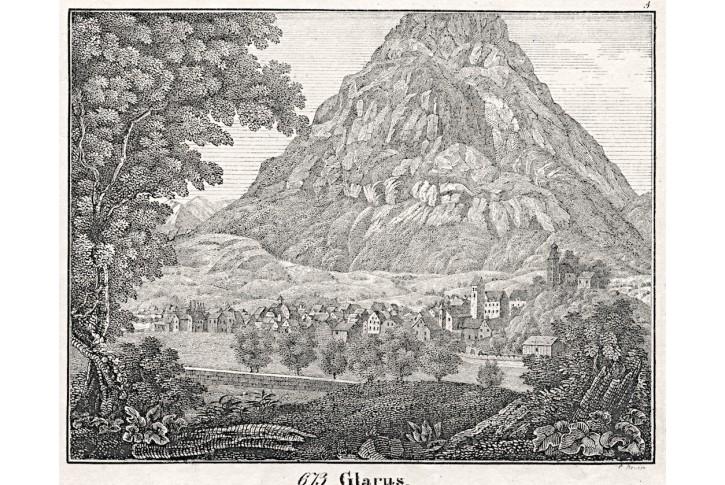 Glarus, Neue Bilder.., litografie , 1837