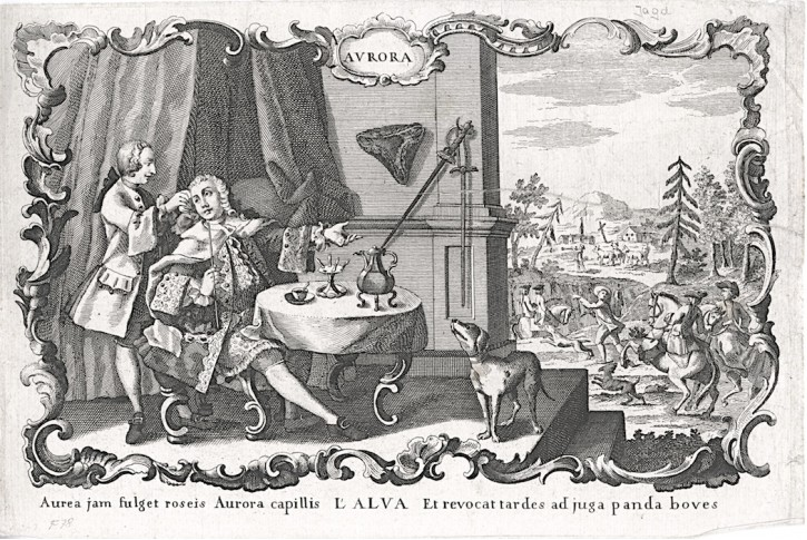Aurora - Jitřenka, mědiryt, (1770)