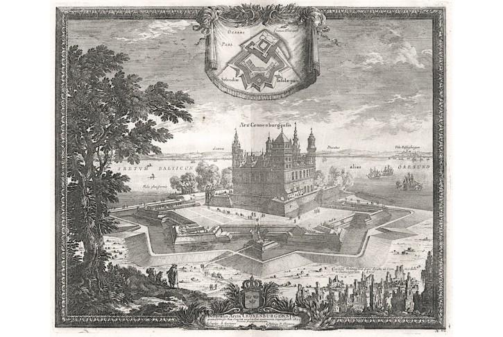 Kronborg, Puffendorf, mědiryt, 1697