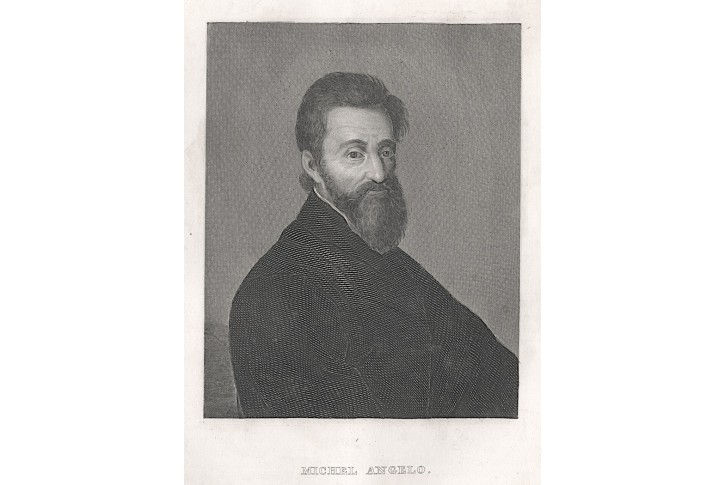 Michelangelo Buonarroti, oceloryt, 1846