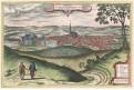 Polná, Janssonius - Hogenberg, kolor. mědiryt 1657