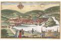 Münden, Braun Hogenberg, kolor. mědiryt (1600)