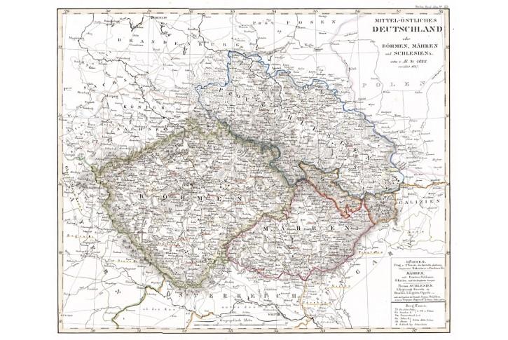 Böhmen Mähren, Stieler,  oceloryt, (1830)
