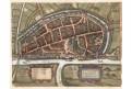 Neus, Braun Hogenberg, kolor. mědiryt, (1600)