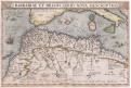 Ortelius A. : Barbaria, mědiryt, 1572