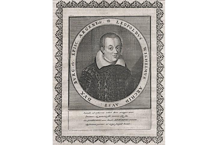 Leopold Vilem arcivévoda, Merian, mědiryt,17. st.