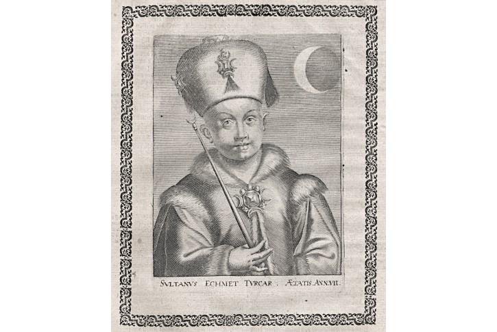 Mehmet IV. sultán, Merian, mědiryt,17. st.