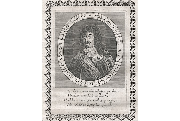 Ludvík XIII. B. , mědiryt, 17. stol
